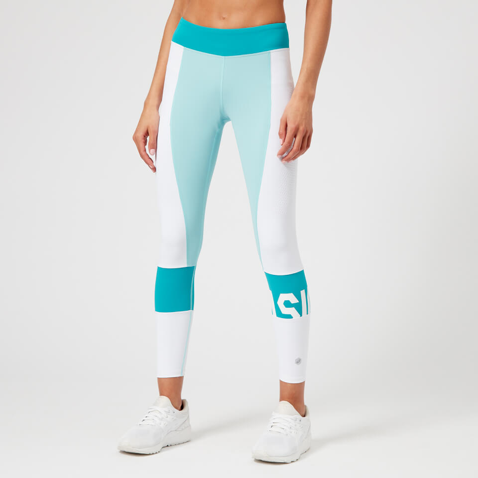 Running Women's Colour Block 7/8 Tights - Porcelain Blue CROSS FIT GYM