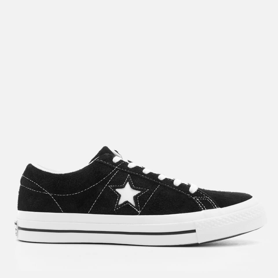 Converse One Star Ox Trainers - Black White 7999a06d68d2