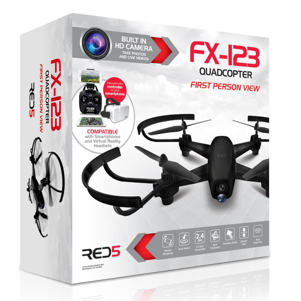 RED5 FX123 Quadcopter - Black