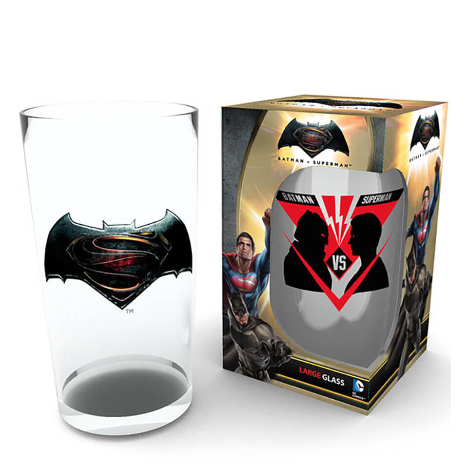 Batman Vs Superman Vs Large Glasses 16oz