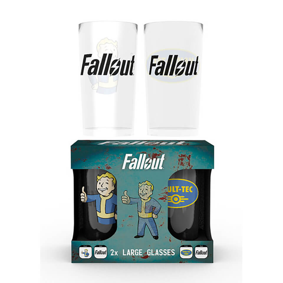 b8330fefe825d Fallout Vault Tec Large Glasses Twin Pack