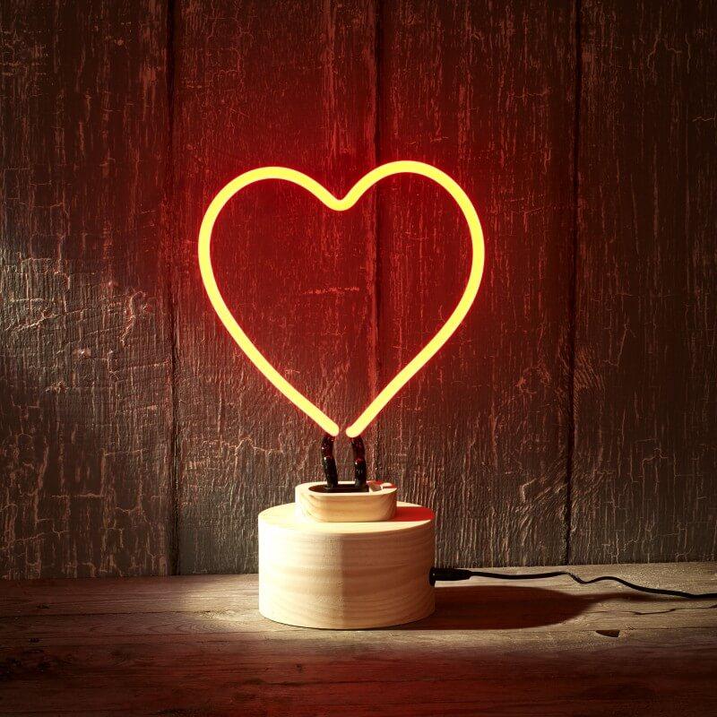 Lumosnap Red Neon Heart Table Lamp - Valentinstag Geschenke für Männer