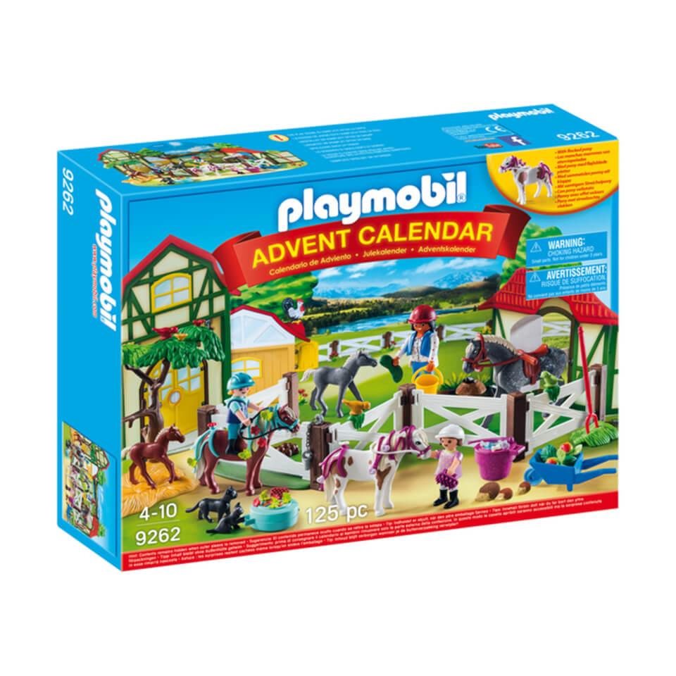 Playmobil Advent Calendar 'Horse Farm' with Flocked Horse (9262)