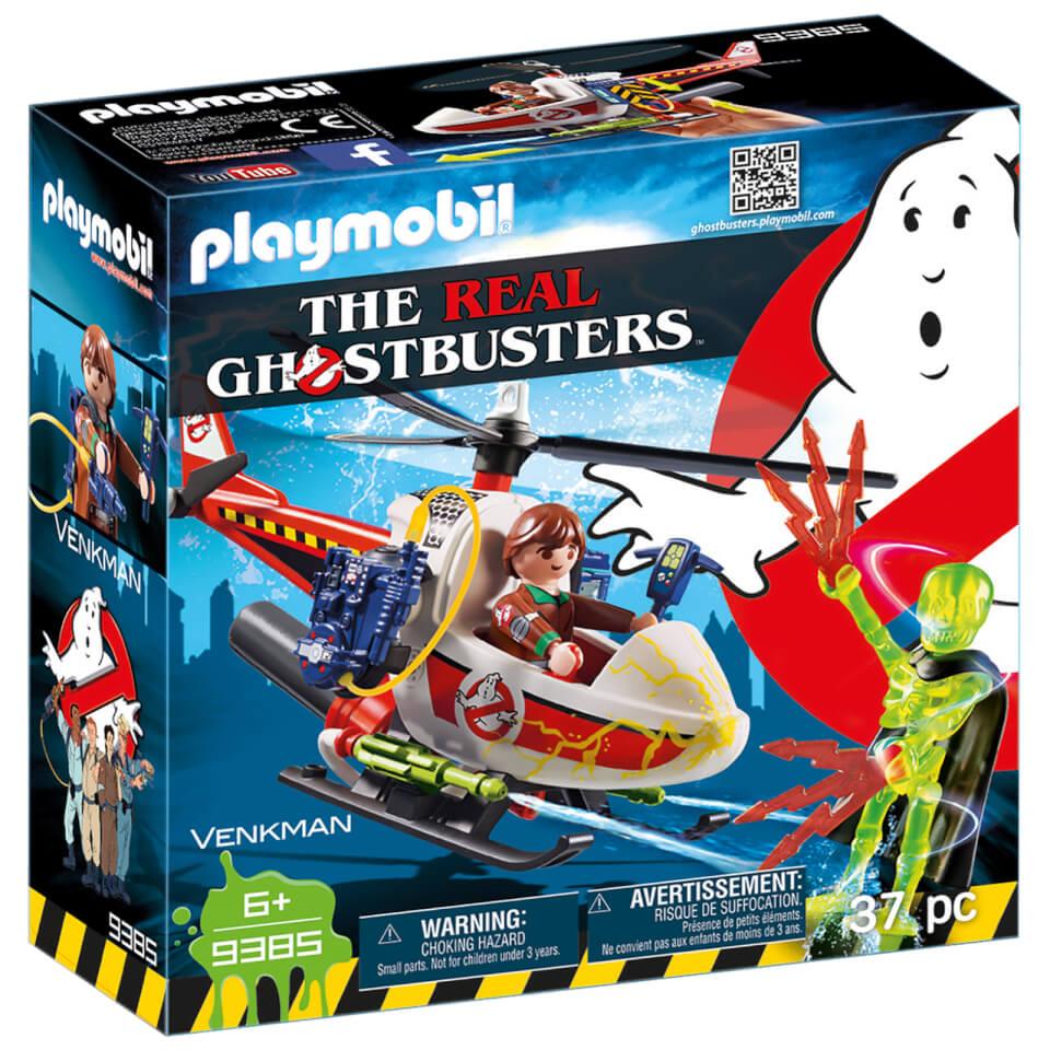 Playmobil - Cazafantasmas Venkman con Helicóptero - 9385