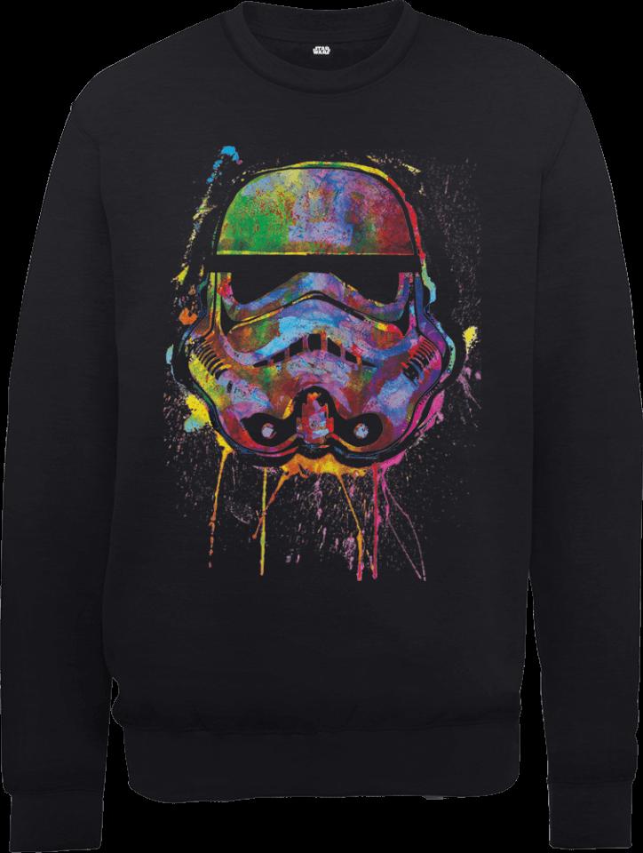 Star Wars Paint Splat Stormtrooper Pullover - Schwarz - XXL - Schwarz   Bekleidung > Pullover > Sonstige Pullover   Star Wars