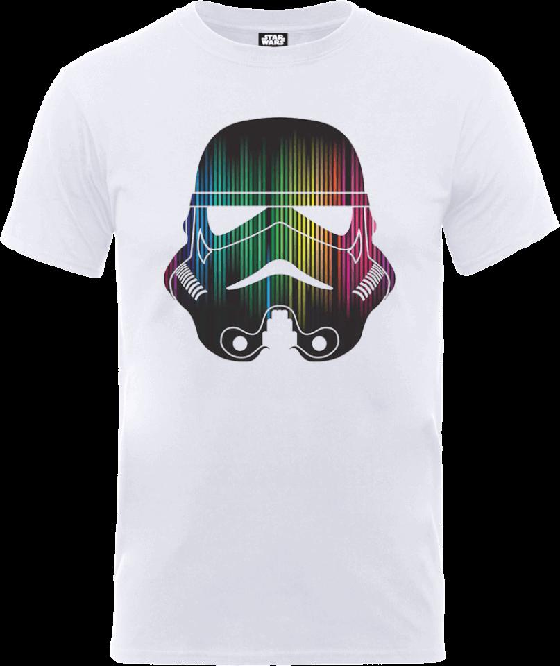 Star Wars Vertical Lights Stormtrooper T-Shirt - White - L - White
