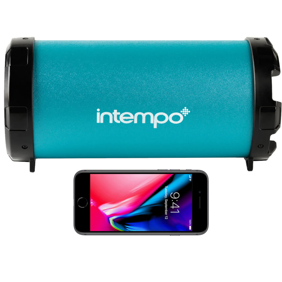 Intempo Large Wireless Bluetooth Tube Speaker Turquoise