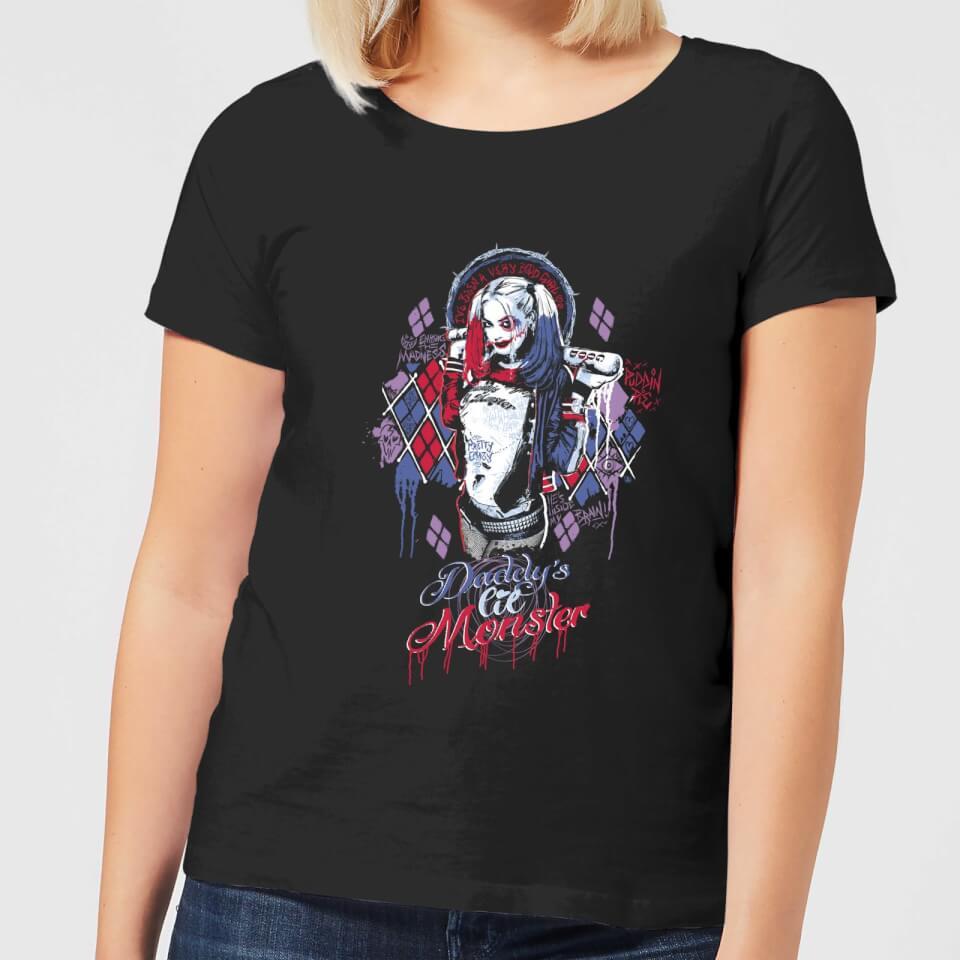 Nützlichfanartikel - DC Comics Suicide Squad Daddys Lil Monster Frauen T Shirt Schwarz 4XL - Onlineshop Sowas Will Ich Auch