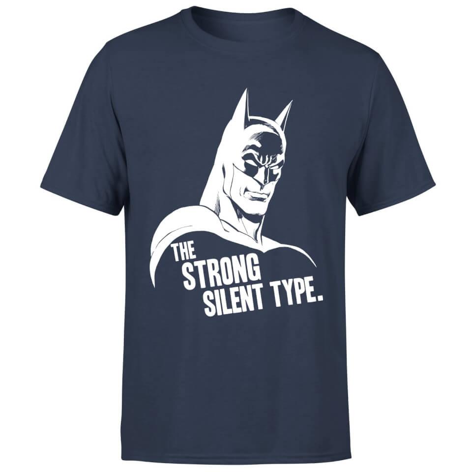 Batman The Strong Silent Type T Shirt Black XXL Schwarz
