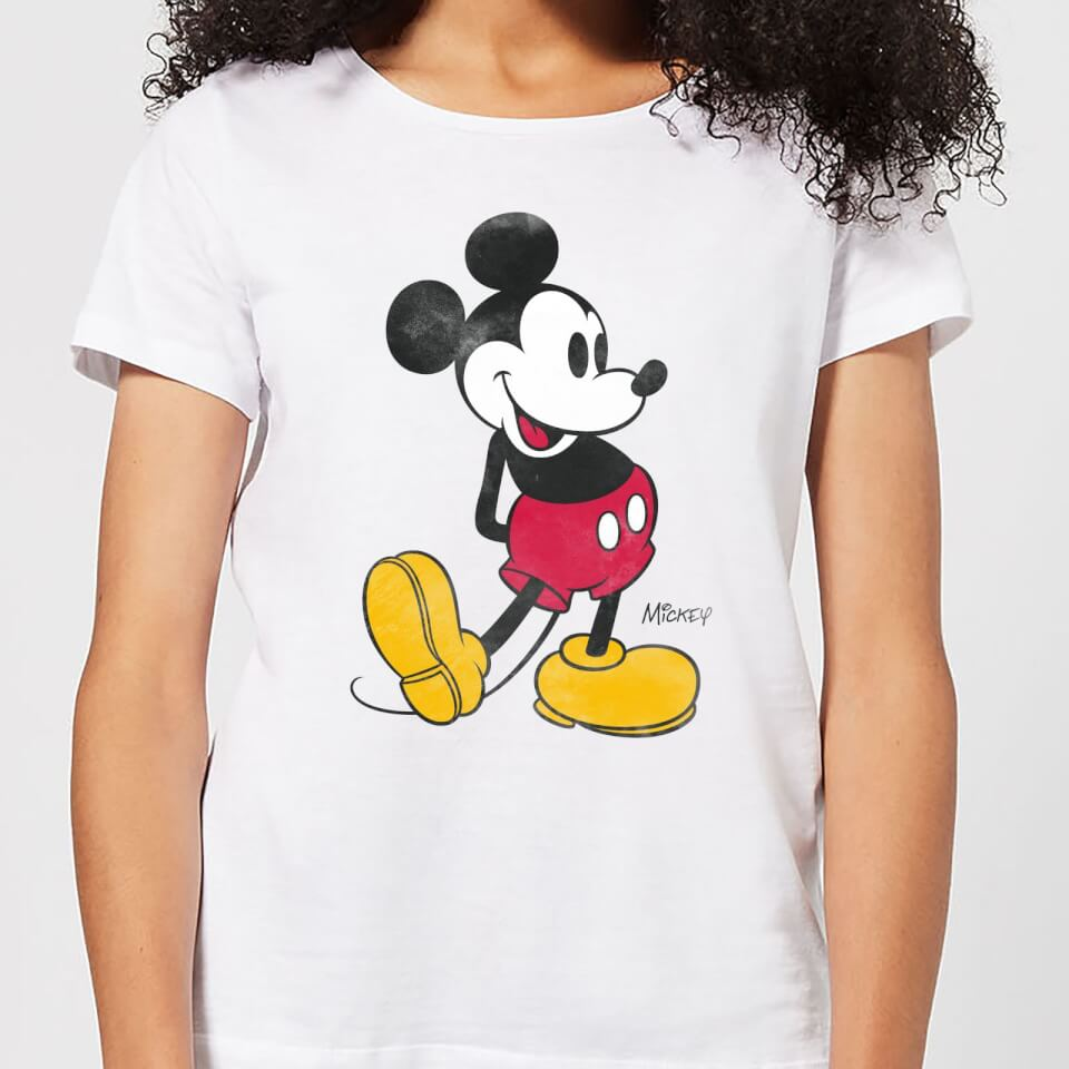 Nützlichfanartikel - Disney Mickey Mouse Classic Kick Frauen T Shirt Weiß 4XL - Onlineshop Sowas Will Ich Auch
