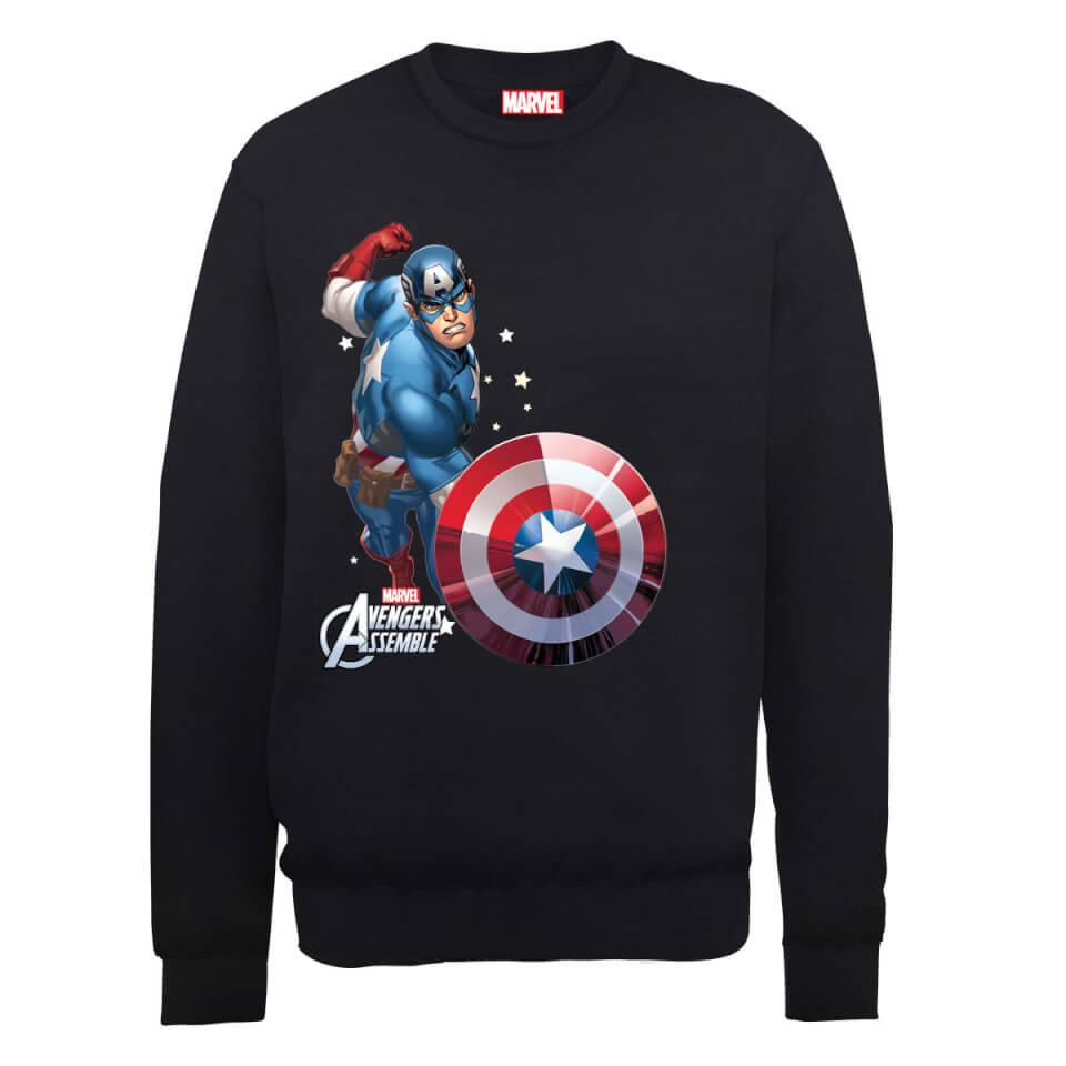 Sudadera Marvel Los Vengadores Unidos  Capitán América Cómic  - Hombre - Negro - M - Negro