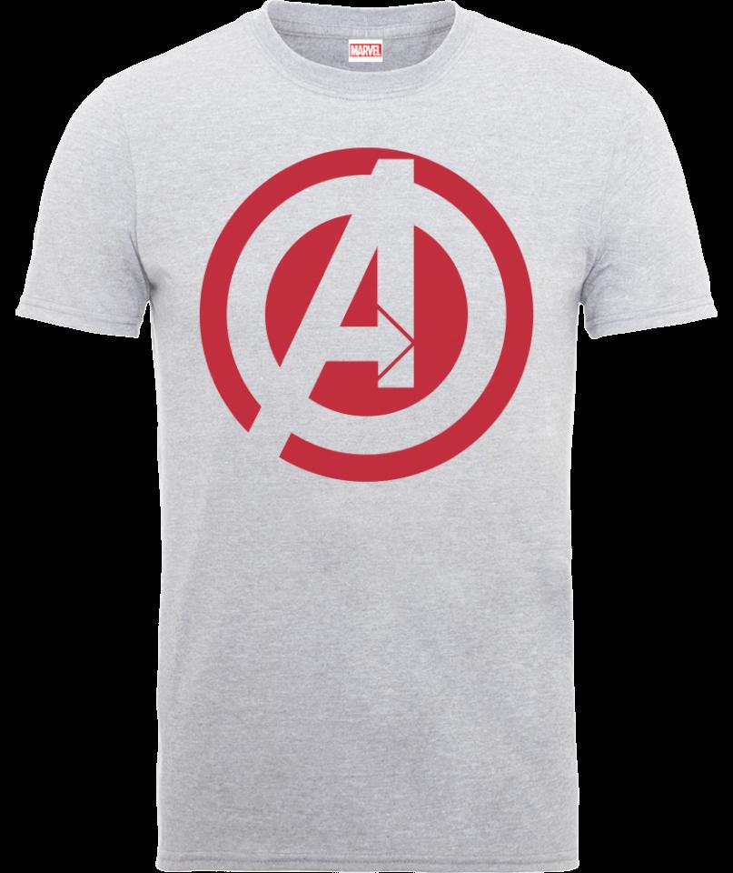 Marvel Avengers Assemble Captain America Logo T Shirt Grau XXL Grau