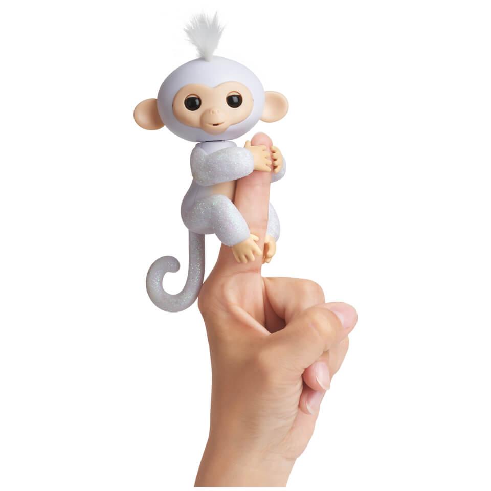 Fingerlings Baby Monkey Glitter Sugar (White)