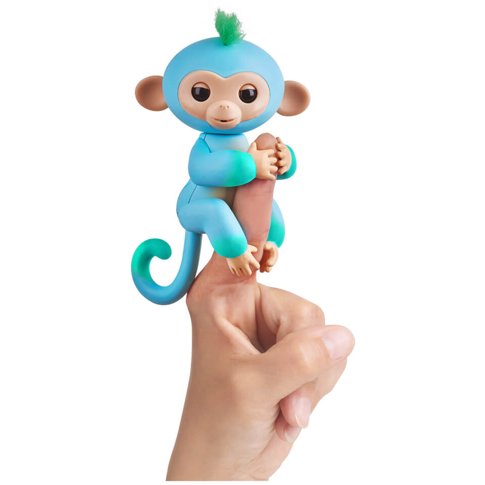 Fingerlings Baby Monkey - Two Tone - Charlie (Blue and Green)