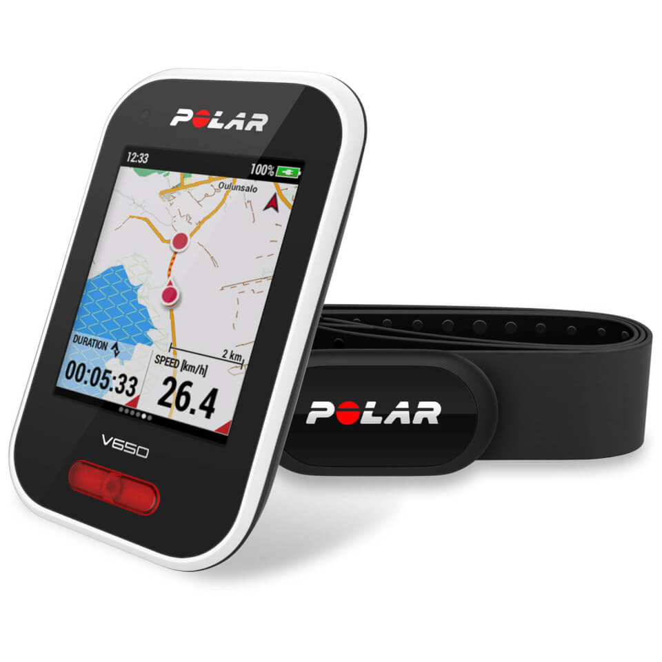 Polar V650 H10 GPS Cycle Computer Bundle