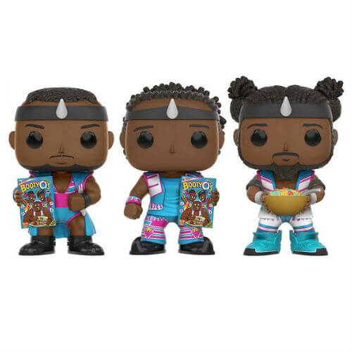 WWE The New Day Booty O EXC Pop! Vinyl Figure 3 Pack