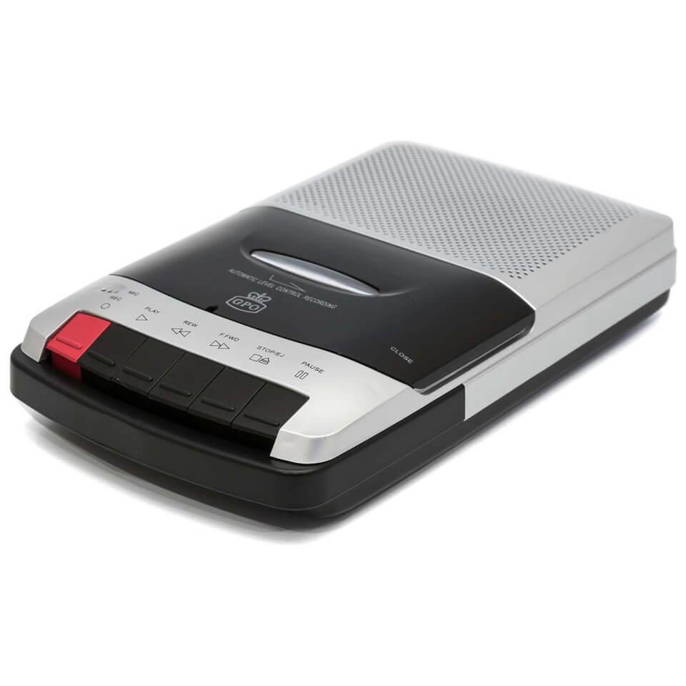 Ausgefallengadgets - GPO 162B Portable Desktop Cassette Recorder with Built in Speaker Silver Black - Onlineshop Sowas Will Ich Auch