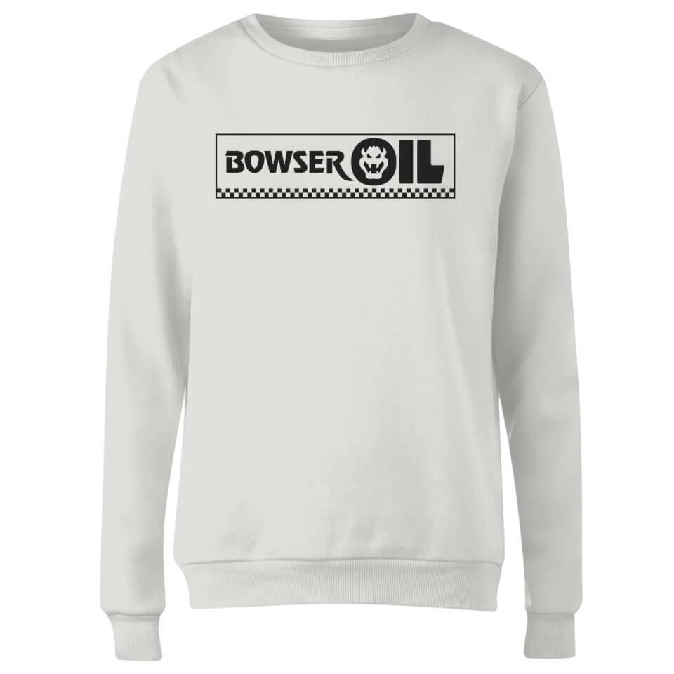 Sudadera Nintendo Super Mario Bowser Oil - Mujer - Blanco - L - Blanco
