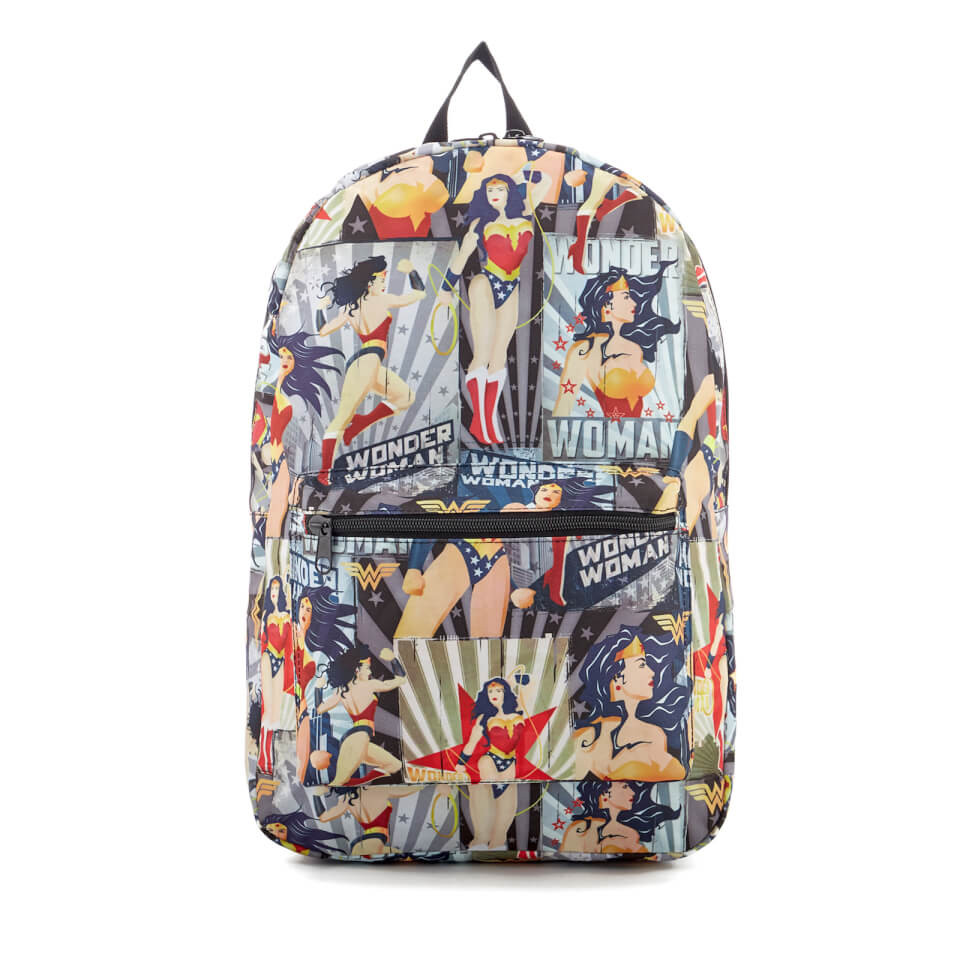 DC Comics Wonder Woman Vintage Poster Backpack Red