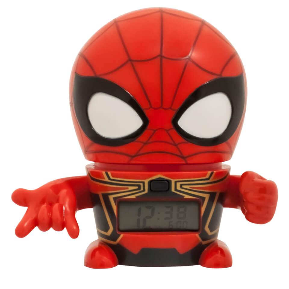 BulbBotz Marvel The Avengers Infinity Wars Spider Man Clock (5.5 Inches)