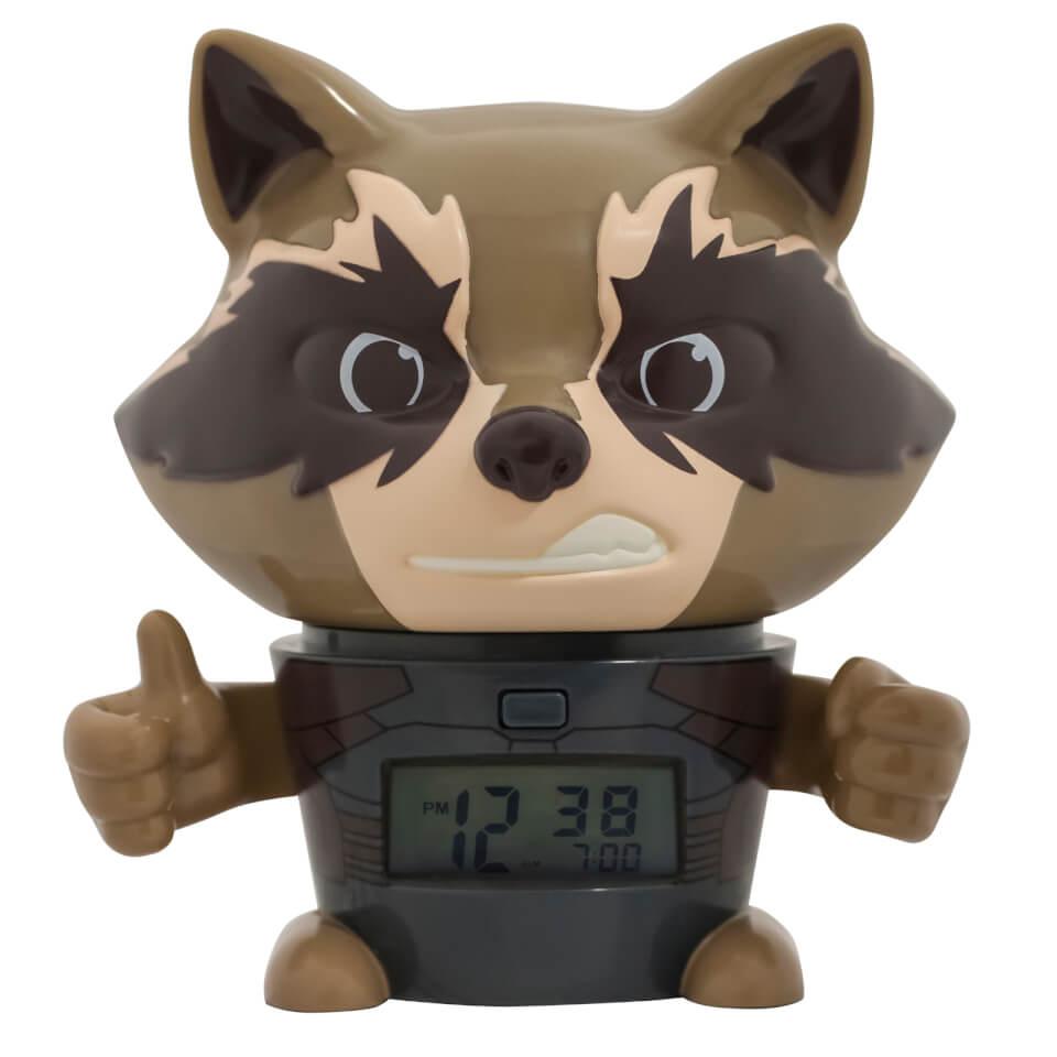 BulbBotz Marvel The Avengers Infinity Wars Rocket Racoon Clock (5.5 Inches)