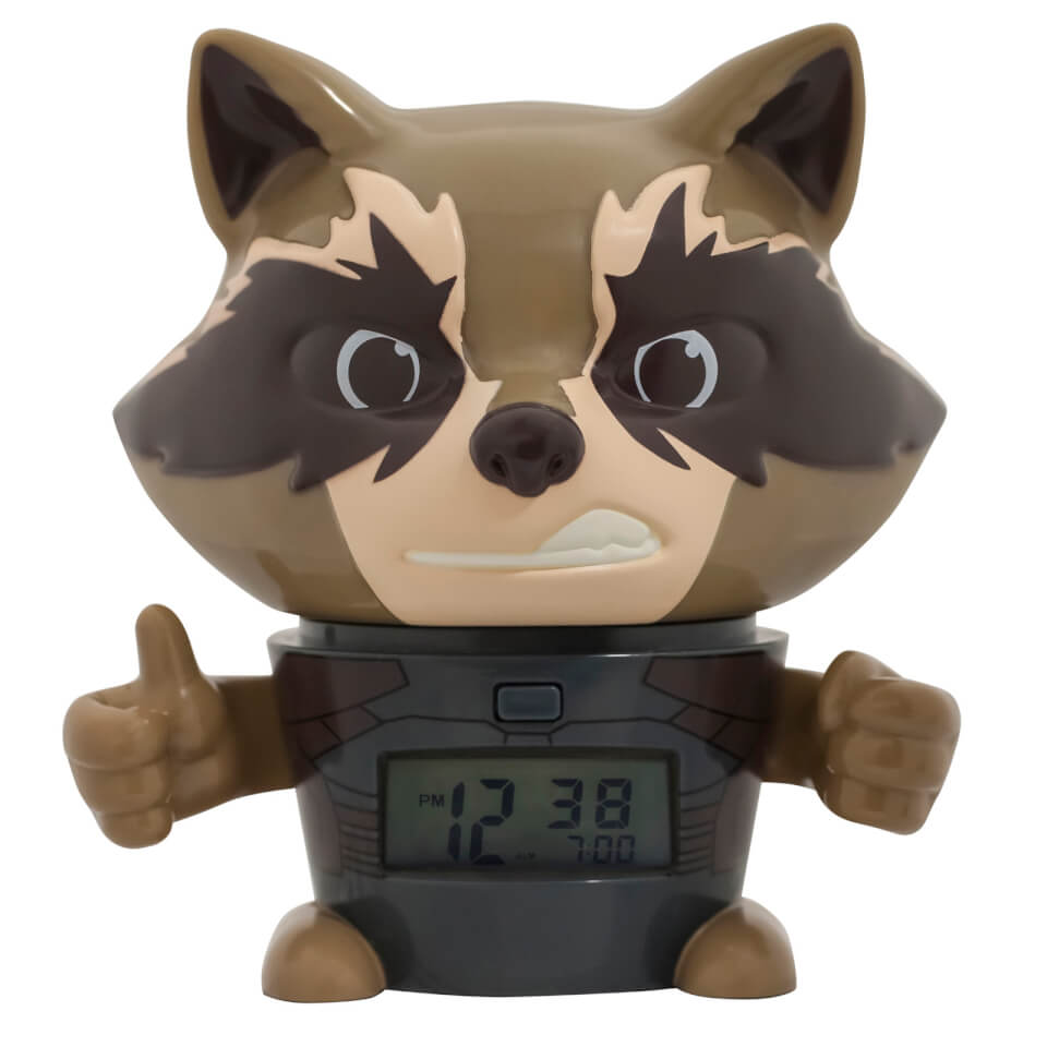Bulbbotz Marvel The Avengers Infinity War Rocket Raccoon Nachtlicht Wecker