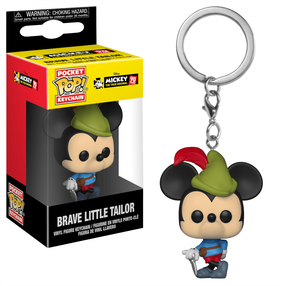 Disney Mickey's 90th Brave Little Tailor Pop! Vinyl Keychain