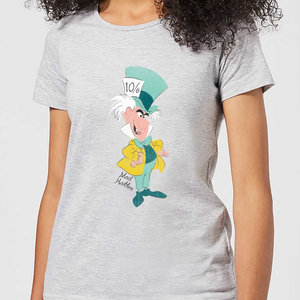 Camiseta Disney Alicia en el País de las Maravillas Sombrerero Loco - Mujer - Gris - L - Gris