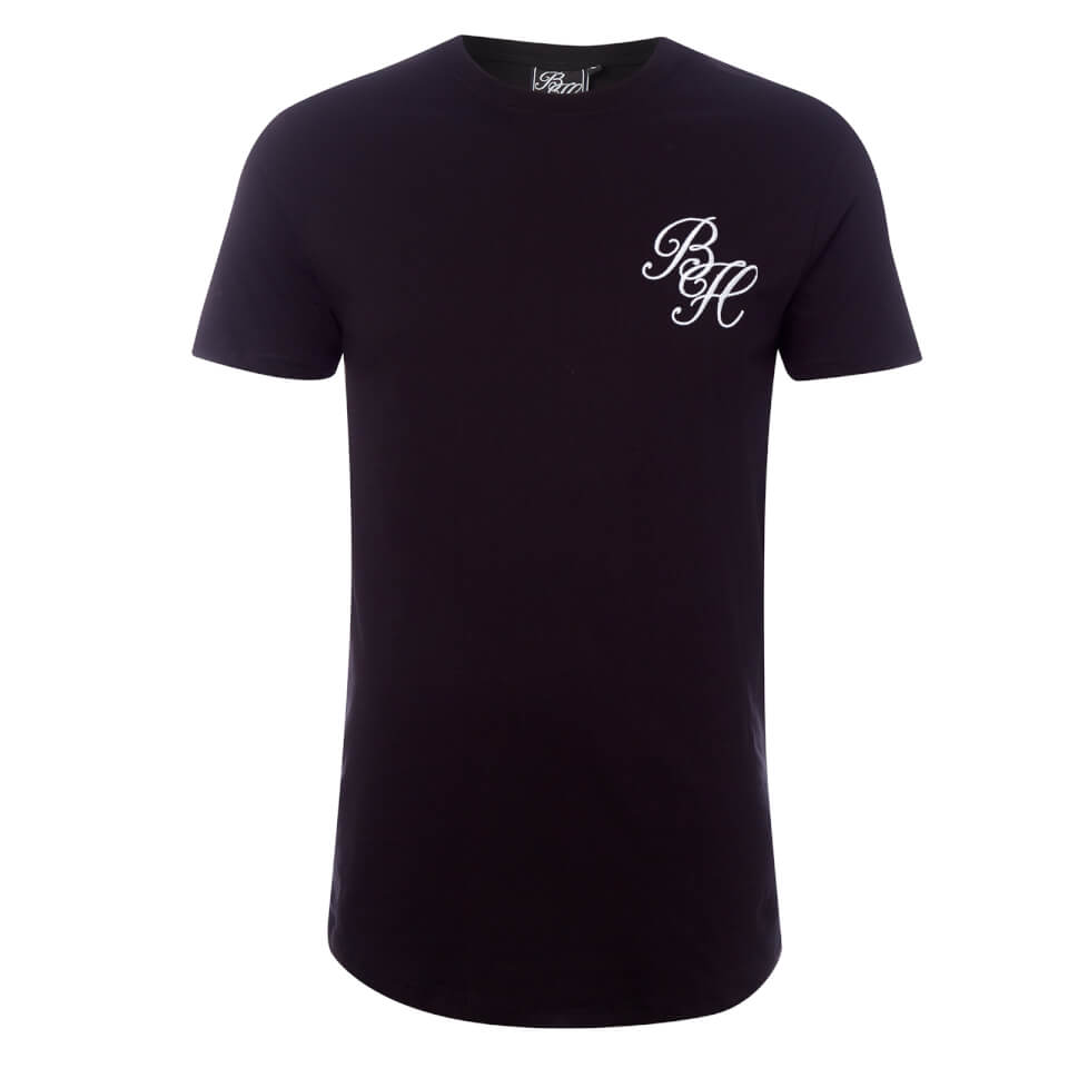 Beck & Hersey Men's Embroidered Classic Logo T-Shirt - Black - L - Negro