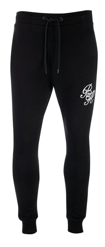 Beck & Hersey Men's Beekman Logo Sweatpants - Black - L - Negro