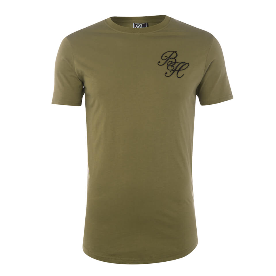 Beck & Hersey Men's Embroidered Classic Logo T-Shirt - Khaki - L - Verde