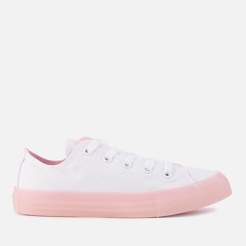 3e7d9e1e5437 Converse Kids  Chuck Taylor All Star Ox Trainers - White Cherry Blossom