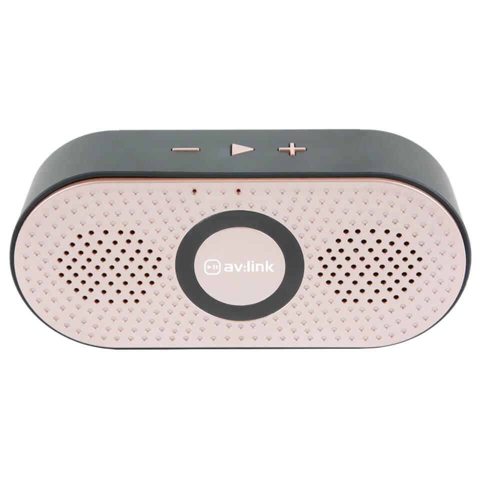 AV Link Portable 4.2 Bluetooth Speaker Rose Gold