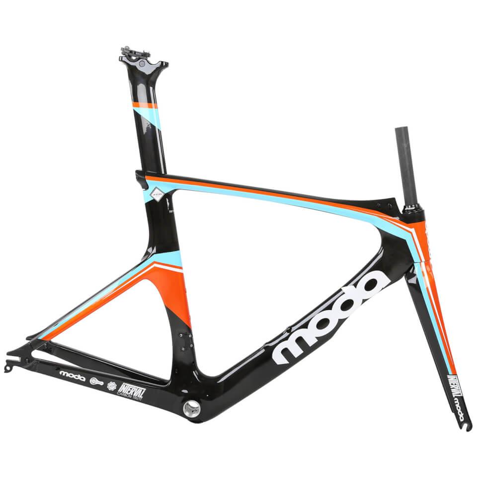 Moda Interval Carbom Tri/Time Trial Frameset - Orange/Black/White - 54cm - Orange/Black/White
