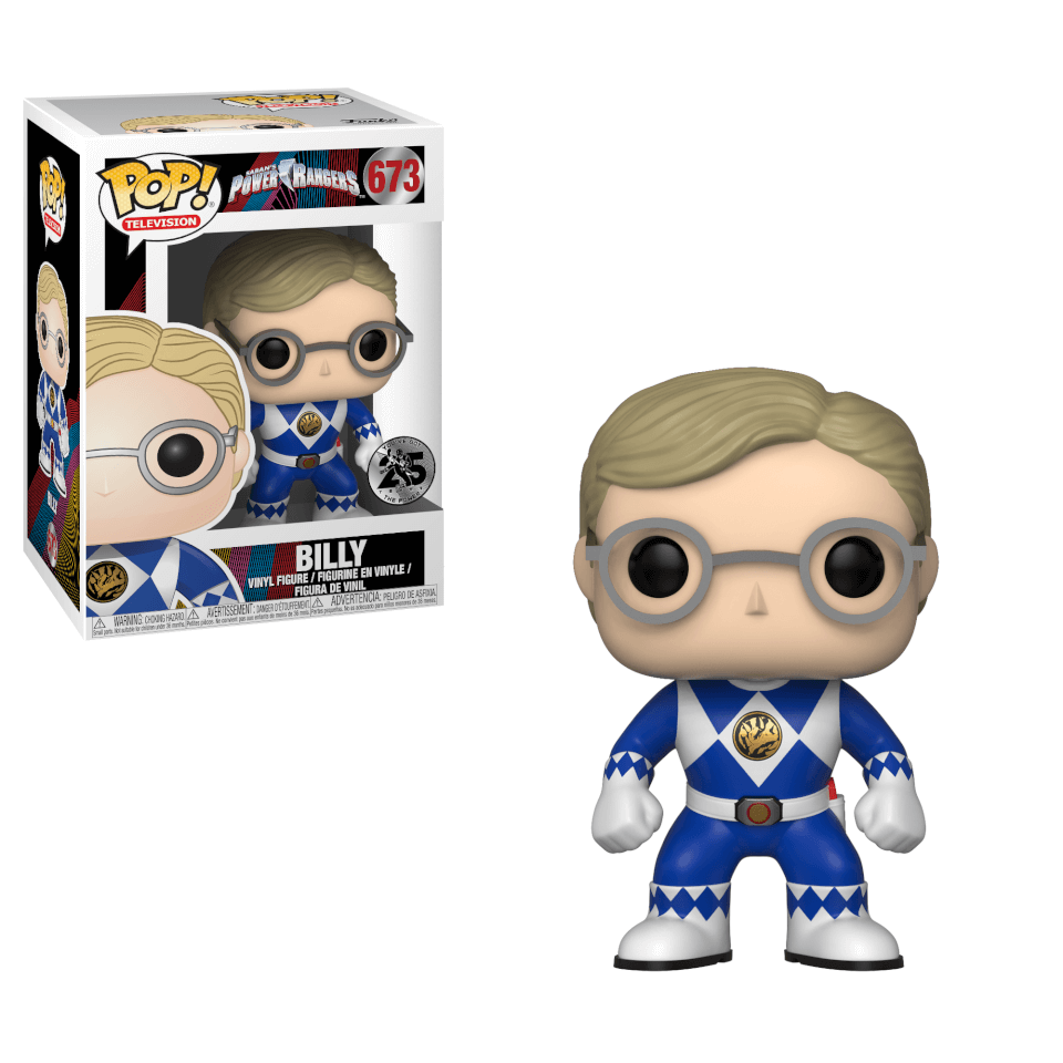 Power Rangers Blue Ranger Billy Pop! Vinyl Figur
