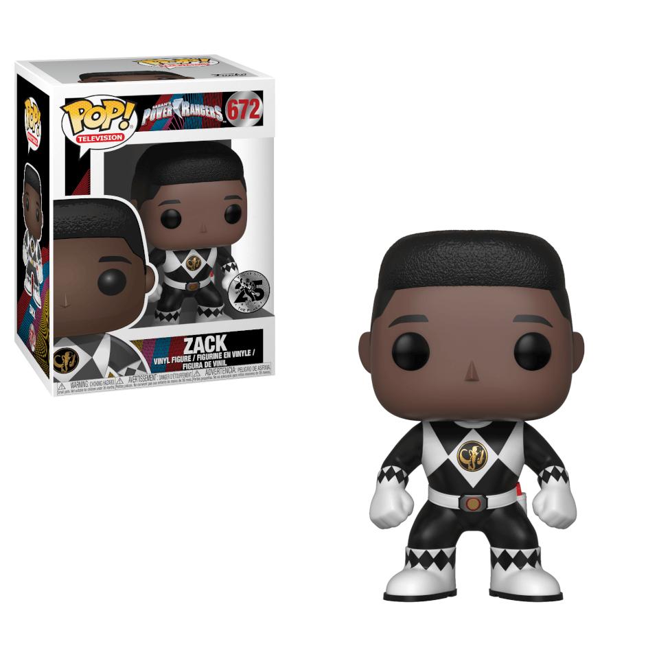 Power Rangers Black Ranger Zack Pop! Vinyl Figur