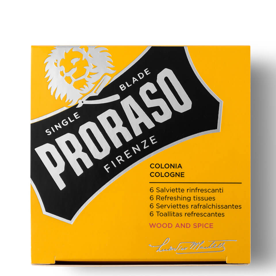 Proraso Refreshing Tissues Wood and Spice (Pack of 6)