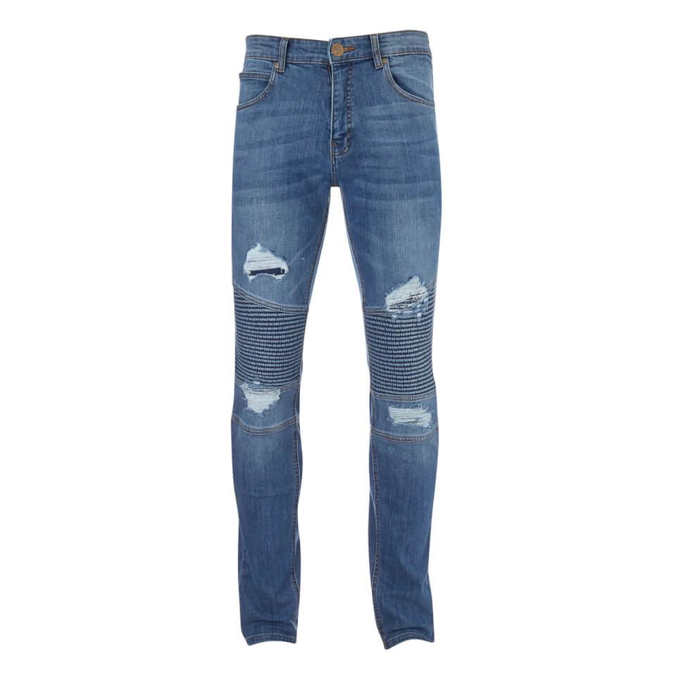 Crosshatch Men's Coramba Jeans - Light Wash - W30/L32 - Azul