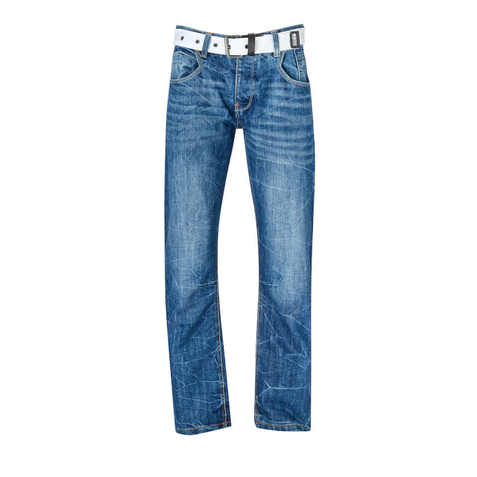 Crosshatch Men's New Baltimore Jeans - Light Wash - W30/L32 - Azul