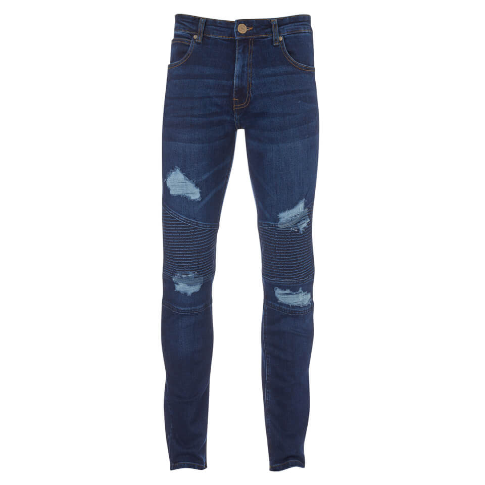 Crosshatch Men's Coramba Jeans - Dark Wash - W30/L32 - Azul