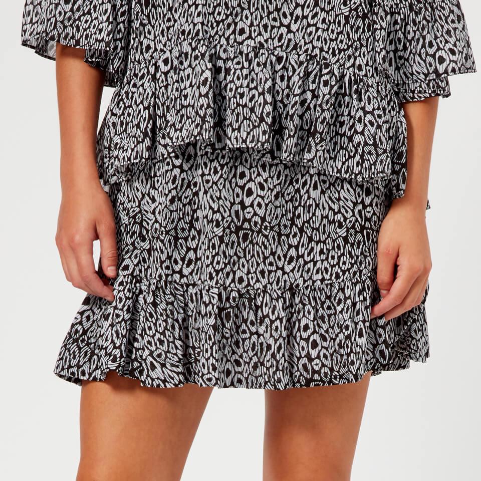 MICHAEL MICHAEL KORS Women's Wavy Leopard Skirt - Multi - XS - Multi