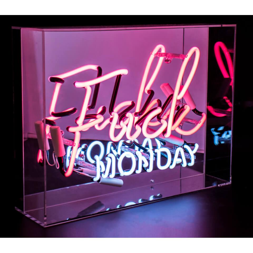 Acrylic Neon F*ck Monday - Pink