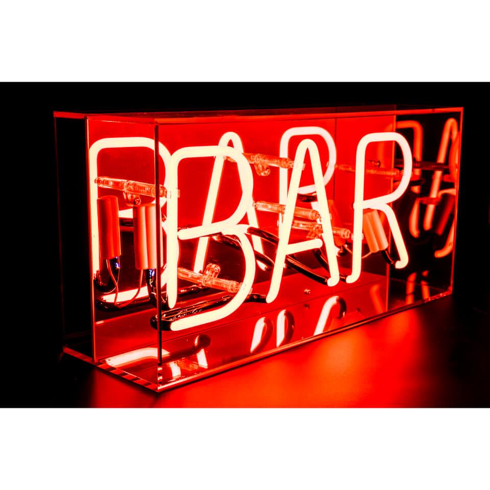 Acrylic Box Neon Bar - Red