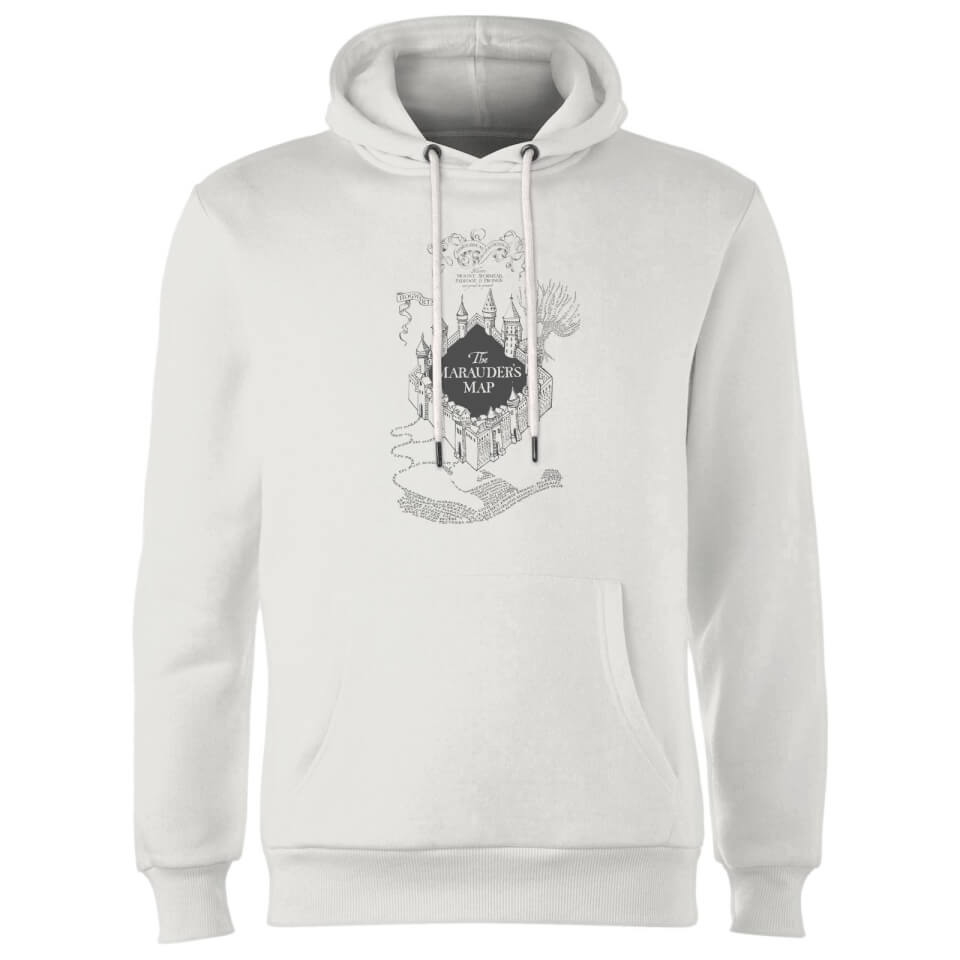 Harry Potter The Marauder's Map Hoodie White L Weiß