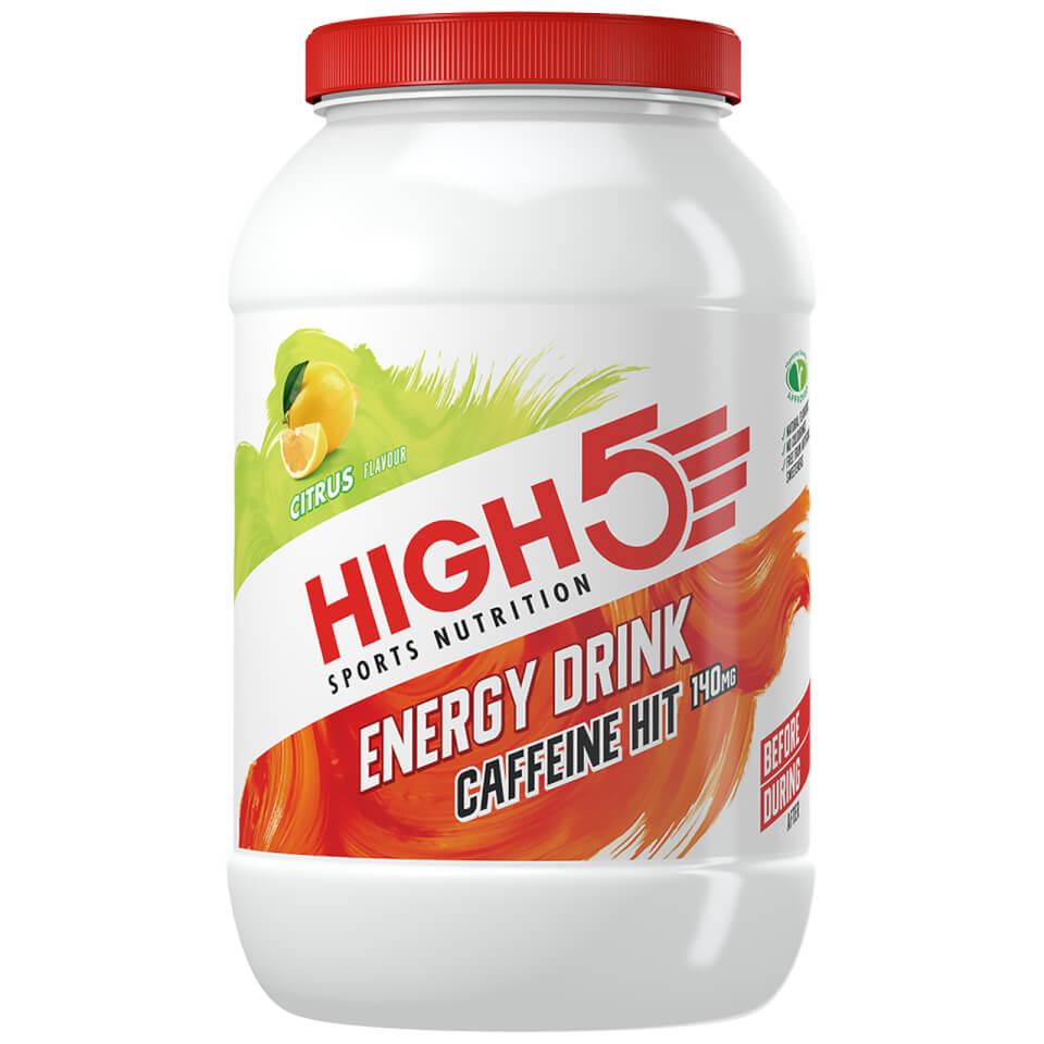 High5 Energy Drink Caffeine Hit - 1.4kg Jar | Energidrik og pulver