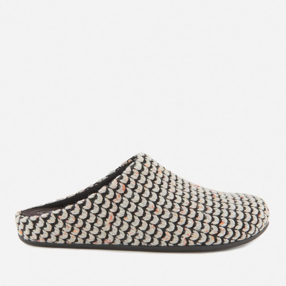 ddb56254f3a32 FitFlop Women s Chrissie Knit Mule Slippers - Pearl Womens Footwear ...