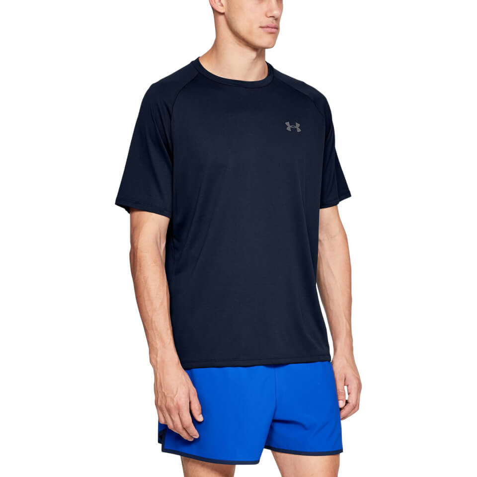Under Armour Men's Tech 2.0 Shorts Sleeve T-Shirt - Academy Blue | Jerseys