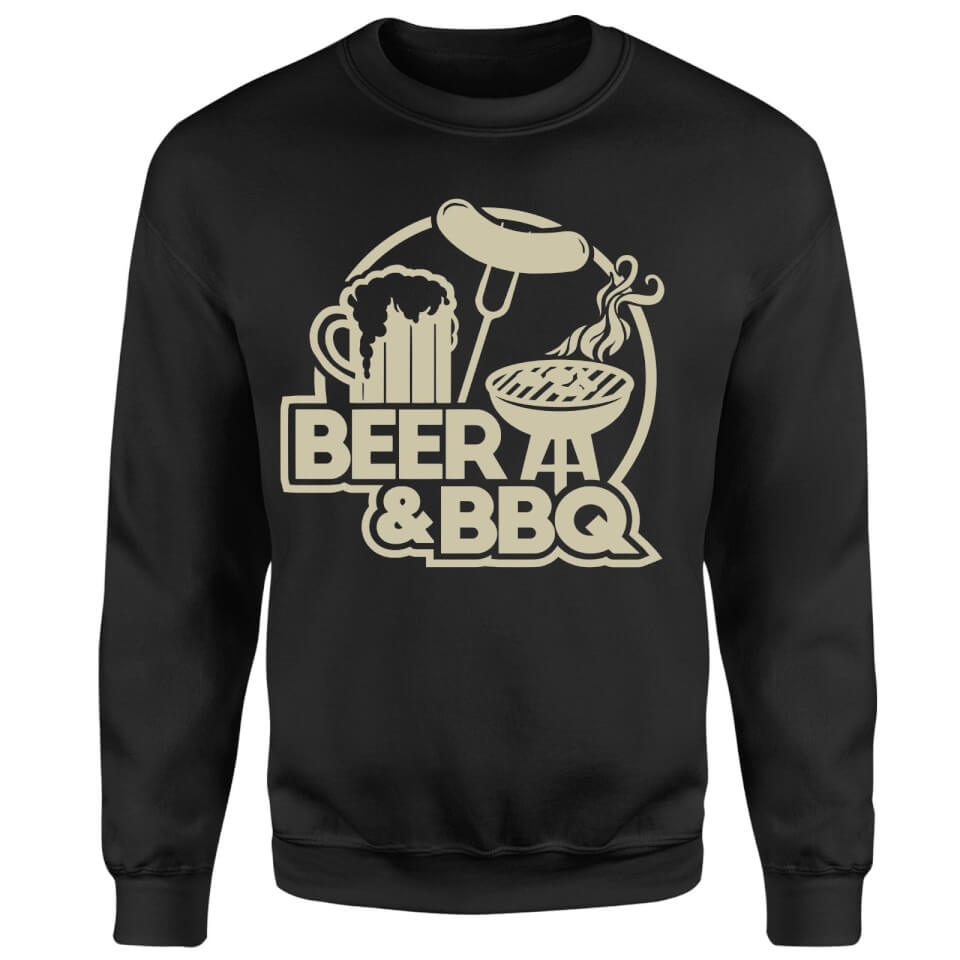 Beer & BBQ Sweatshirt - Black - S - Black