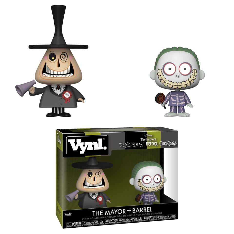 Nightmare Before Christmas Mayor and Barrel Vynl.