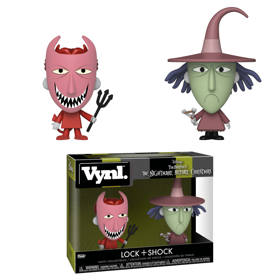 Nightmare Before Christmas Lock and Shock Vynl.